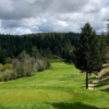 A view of a tee at Apple Mountain Golf Resort.