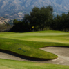 A view of a well protected hole at Angeles National Golf Club.