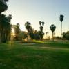 A view of a green and a tee at Barbara Worth Golf Resort.