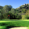 A sunny day view of a hole at Mt. Woodson Golf Club.