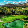 A view of hole #18 at Eagle Crest Golf Club.