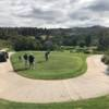 A view of a tee at Anaheim Hills Golf Course.
