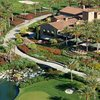 Aerial view of the clubhouse at Toscana Country Club