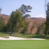 A view of green protected by bunker at Shandin Hills Golf Club