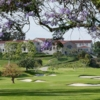A view of the 9th hole at Riviera Country Club