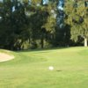 A view of the 9th green at Davis Golf Course