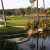 A view over the water of a green at Fairbanks Ranch Country Club
