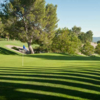 A sunny day view of a green at Porter Valley Country Club (ClubCorp)