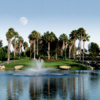 A view over the water of a green at Tustin Ranch Golf Club