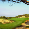 A view of a green at Ocean South from Pelican Hill Golf Club