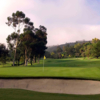 A view of a hole protected by a large sand trap at El Niguel Country Club