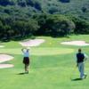 A view from a tee at Laguna Seca Golf Club