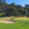A view of a hole protected by tricky bunkers at Valley Club of Montecito