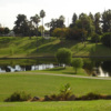 A view over the water from Alondra Park Golf Course