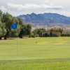 A view of a green at Furnace Creek Golf Course.