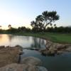 A view of a green with water coming into play at Sun Lakes Country Club.