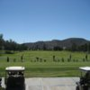 A view of the driving range at Sun Lakes Country Club.