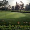 A view of the practice putting green from the cafe at Woodbridge Golf & Country Club.
