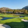 A view of two greens at Temecula Creek Inn Golf Resort.