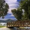 A view over a bridge at Hemet West Mobile Estates.