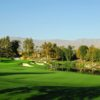 A splendid day view of a green at Celebrity Course from Indian Wells Golf Resort.
