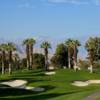 A sunny day view of a hole at Marriott's Desert Springs Resort.
