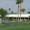A view of the clubhouse at Palm Desert Greens Country Club.