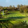 A sunny day view of a fairway at Rancho Bernardo Inn.