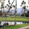 A view over a pond at Omni Rancho Las Palmas Resort.