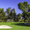 A view of a well protected hole from Balboa at Sepulveda Golf Complex.
