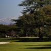 A view of a green at Santa Anita Golf Course.