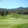 A sunny day view of a hole at Almaden Golf & Country Club.