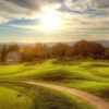 A sunny day view from Boundary Oak Golf Course.
