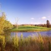 A view over the water of a hole at La Purisima Golf Course.