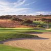 A view of a well protected hole at La Purisima Golf Course.