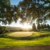 A sunny day view of a green at Moraga Country Club.