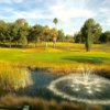 A view of a hole with water coming into play at Indian Hills Golf Club.