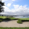 View of a bunkered green at Pebble Beach Golf Links