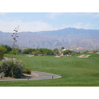 Mountains are the background at Desert Willow.