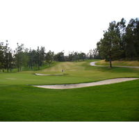 The 16th hole on the Eisenhower Course at Industry Hills Golf Club near Los Angeles.