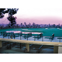 The bi-level practice range at the Pacific Palms Conference Resort is popular with local residents too.