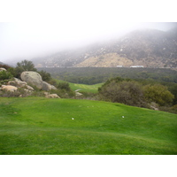 The tee shot on the sixth hole of Temecula Creek Inn's Stonhouse's Course is as daunting as it is breathtaking.