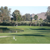 The par 3s are interesting and scenic at Palm Desert CC.