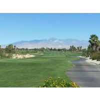 A view of the par-5 opening hole at Escena Golf Club in Palm Springs, California.