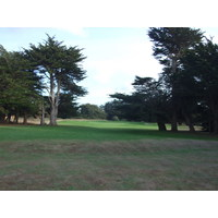 Sea Ranch Golf Links has some tight openings between large trees.