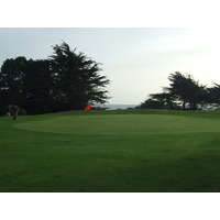 You'll see the ocean beyond the seventh green on Sea Ranch Golf Links.
