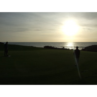 There's nothing like putting out on Sea Ranch Golf Links with the sun setting over the ocean.