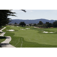 The eighth hole on the Black Horse golf course in Seaside, Calif. is a medium length par 5.