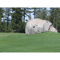 There are huge granite outcroppings at Coyote Moon Golf Course.