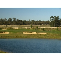 There are five lakes that come into play at Monarch Dunes Golf Club's Challenge Course.